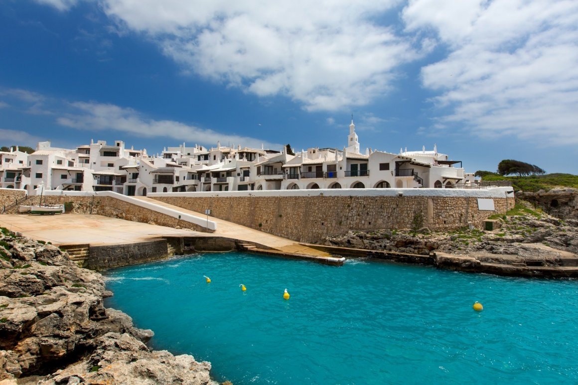 'Binibequer Vell in Menorca Binibeca white village Sant Lluis at Balearic Islands' - Menorca